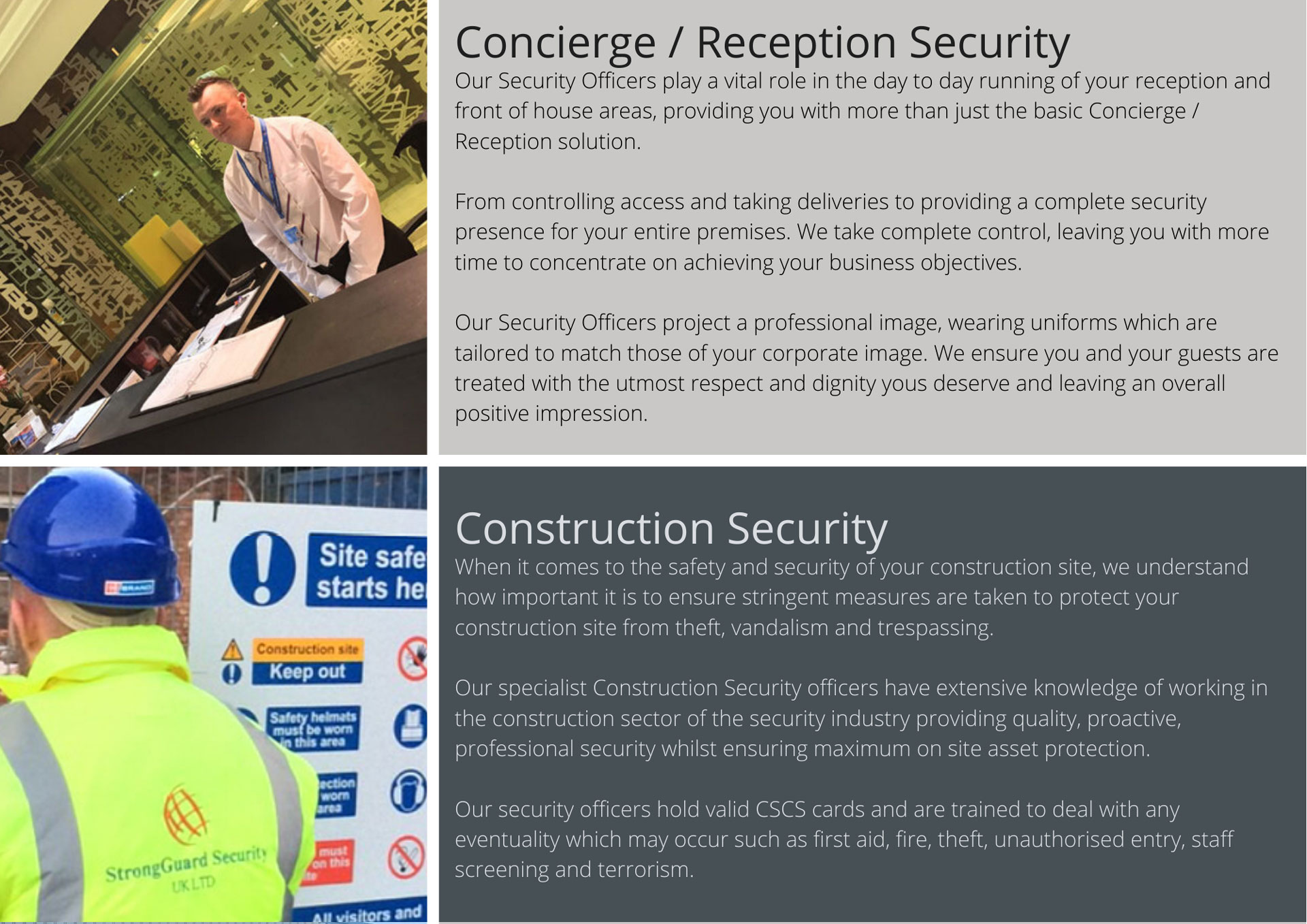Concierge | Reception Security | Front of House